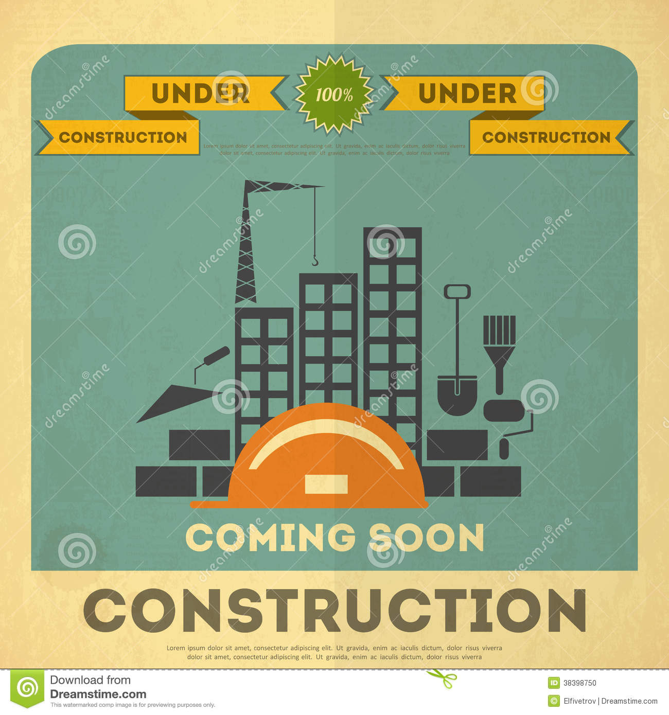 Under construction poster design stock photo image 38398750 for Design construction