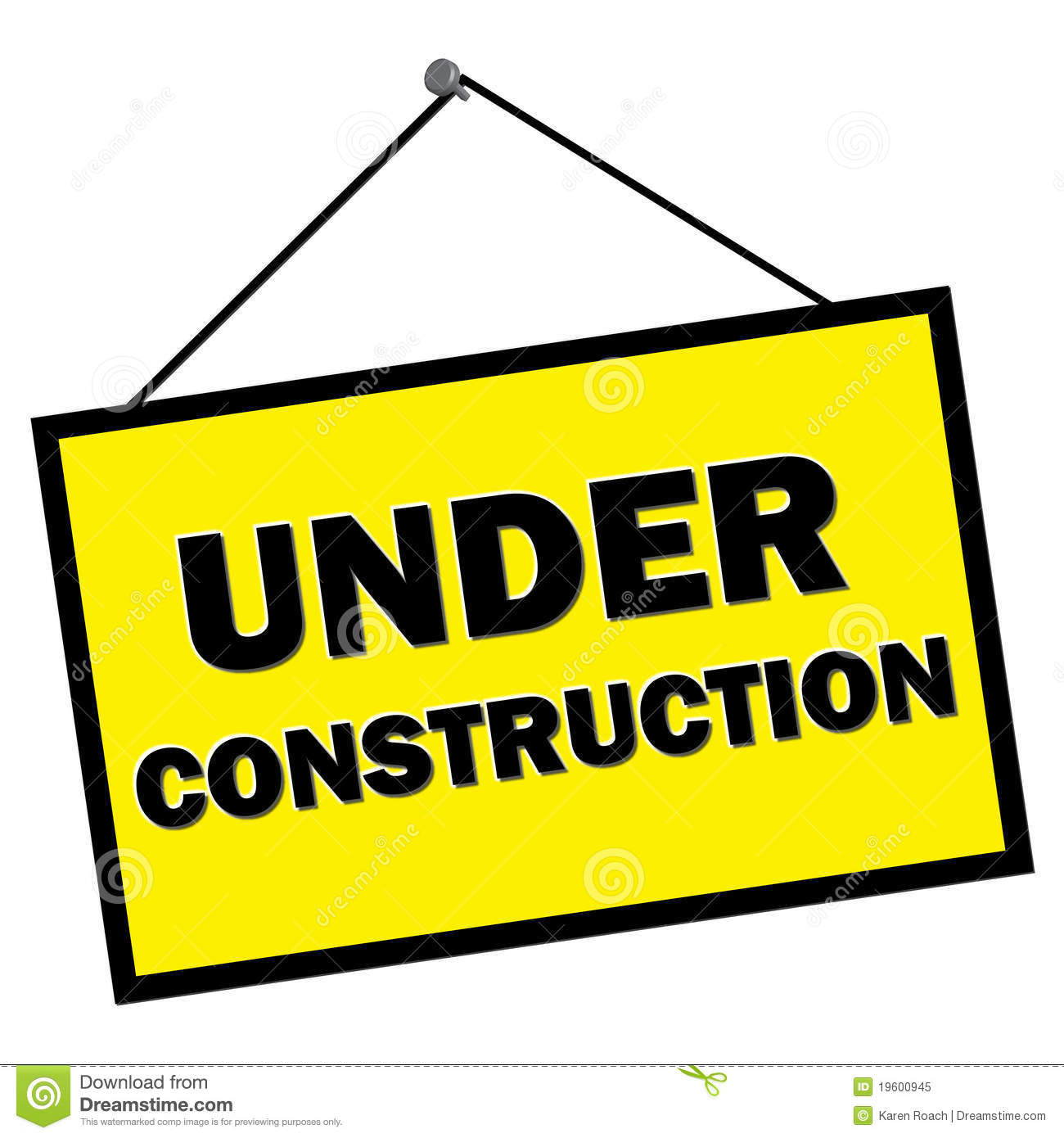 House Blogs Under Construction Sign Royalty Free Stock Photo Image
