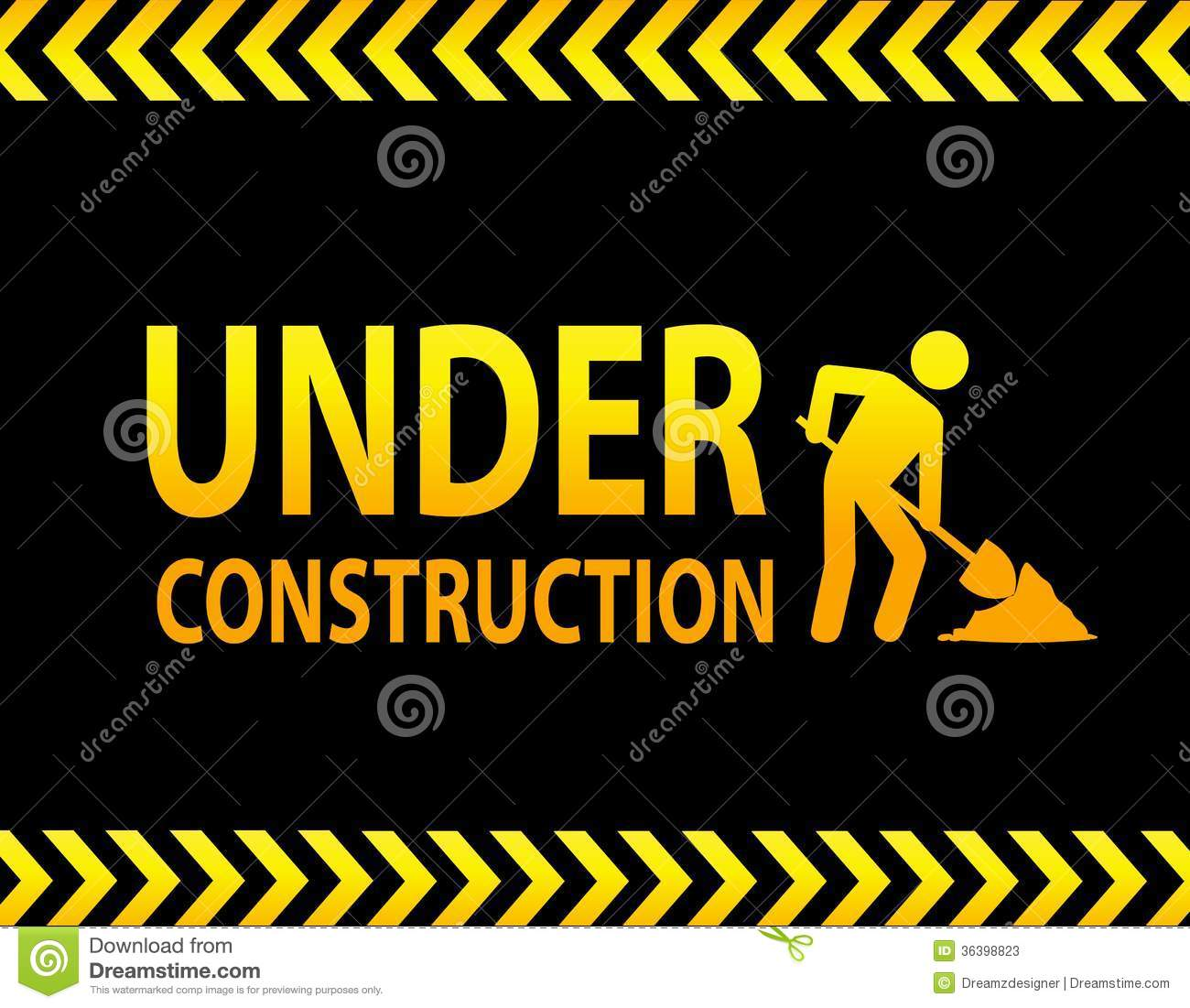 Under Construction Sign Stock Photos Image 36398823
