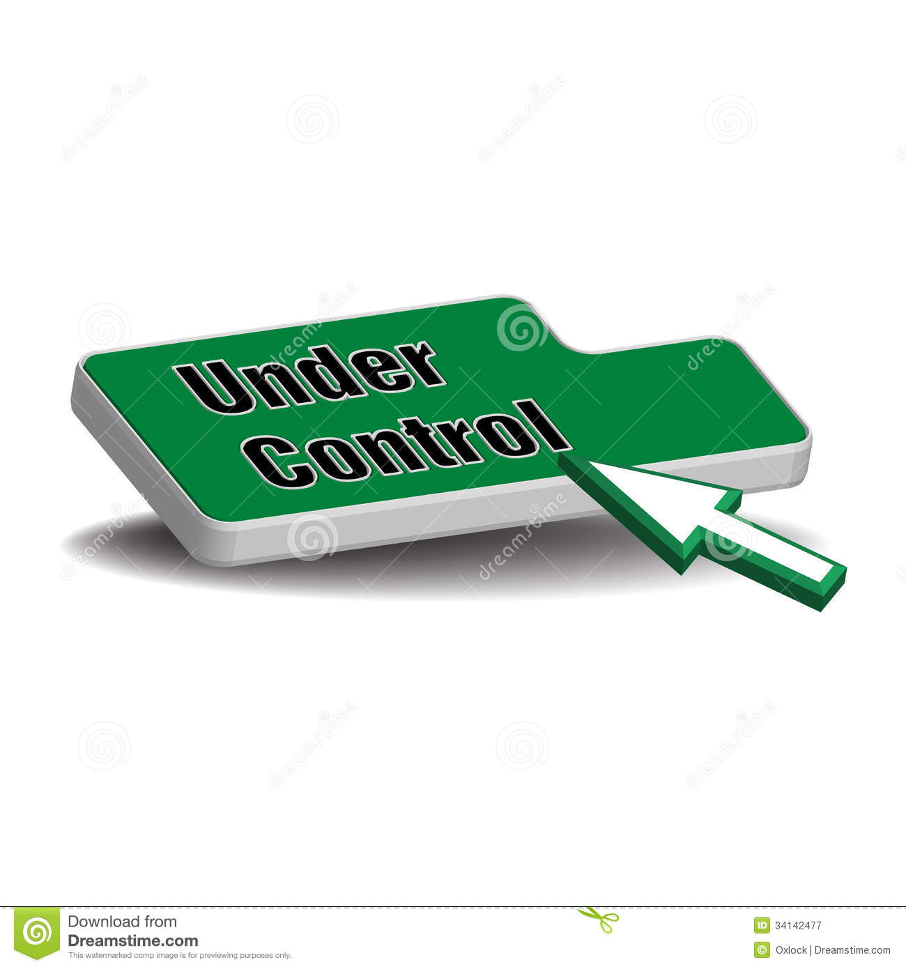 Under Control Button Royalty Free Stock Photography