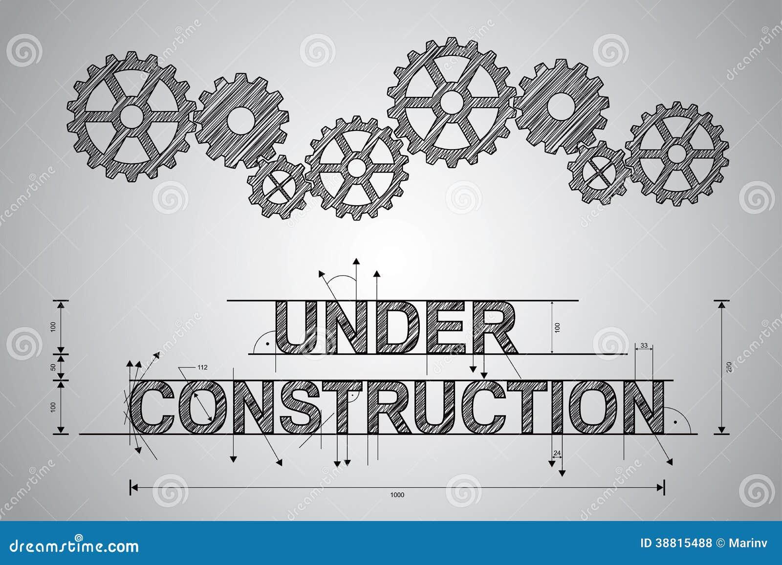 Under konstruktionsbegrepp skissad teckning.