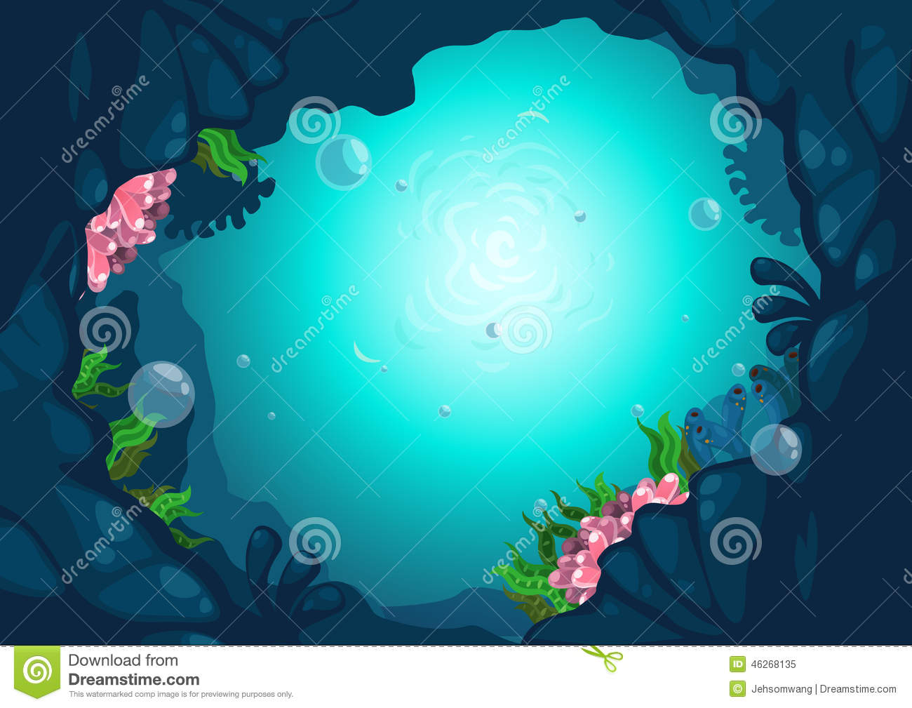 Stock Illustration Under Sea Background Illustration Vector Image46268...