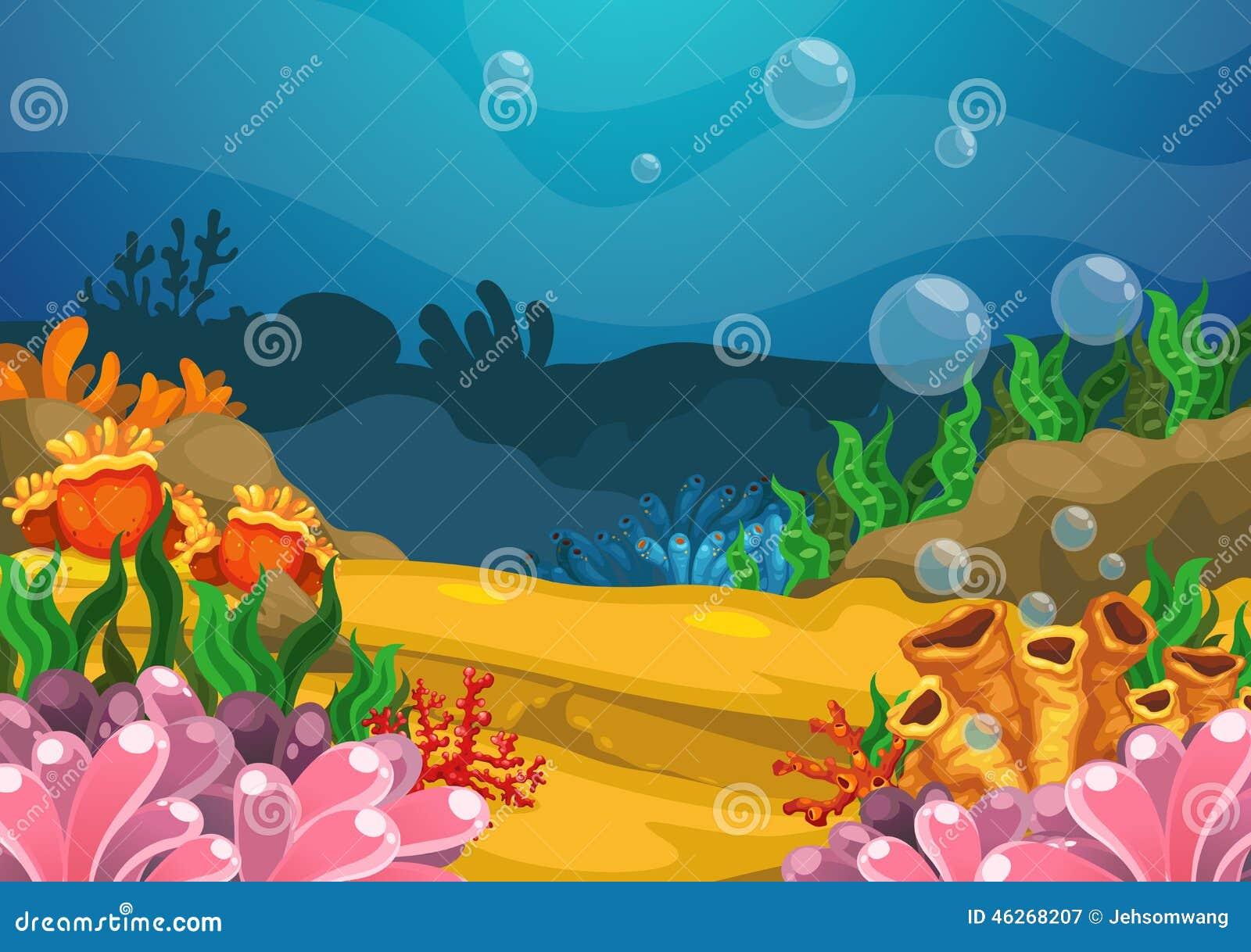 Stock Illustration Under Sea Background Illustration Vector Image46268...