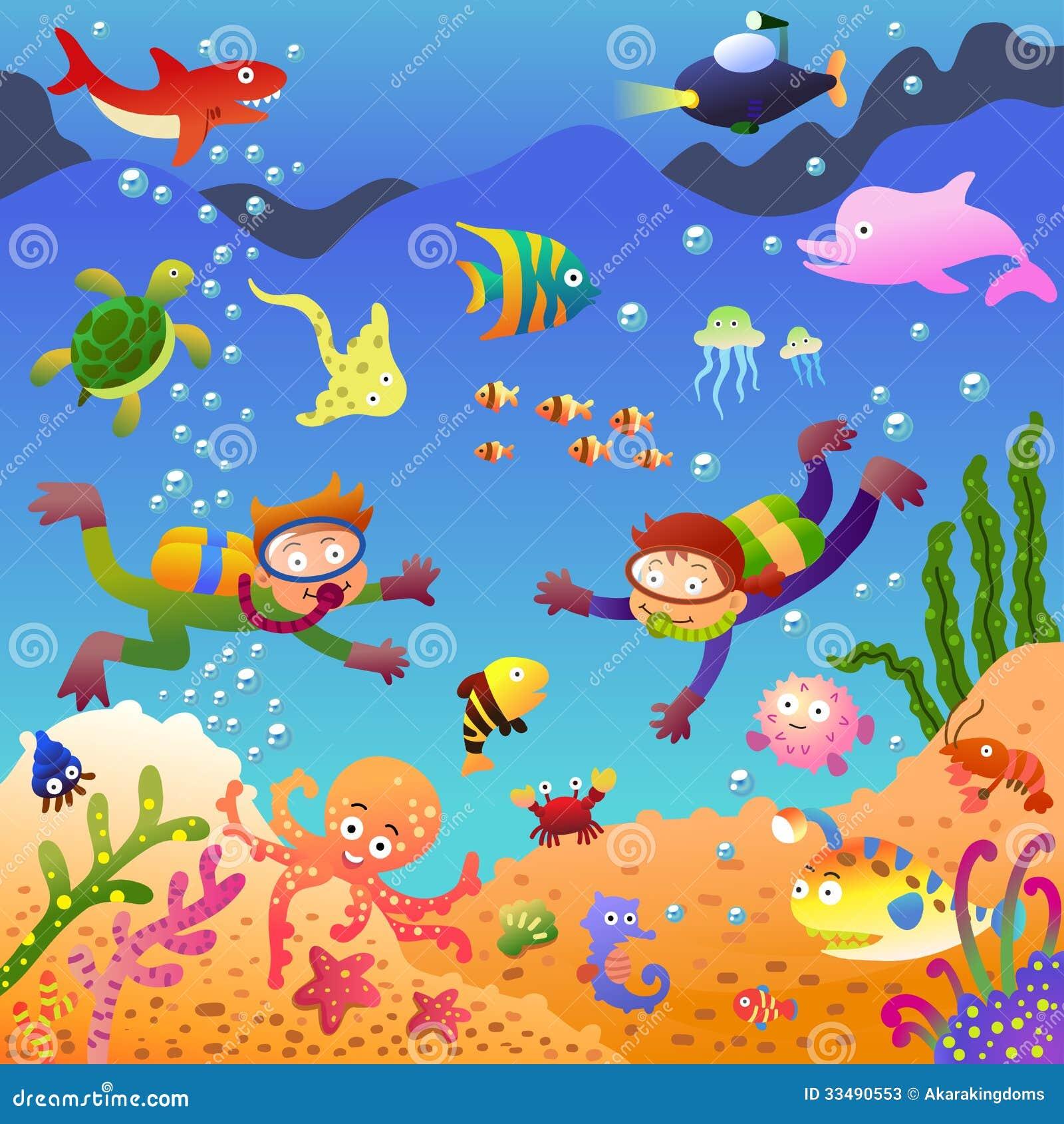 Draw Floor Plans Free Under The Sea Stock Photos Image 33490553