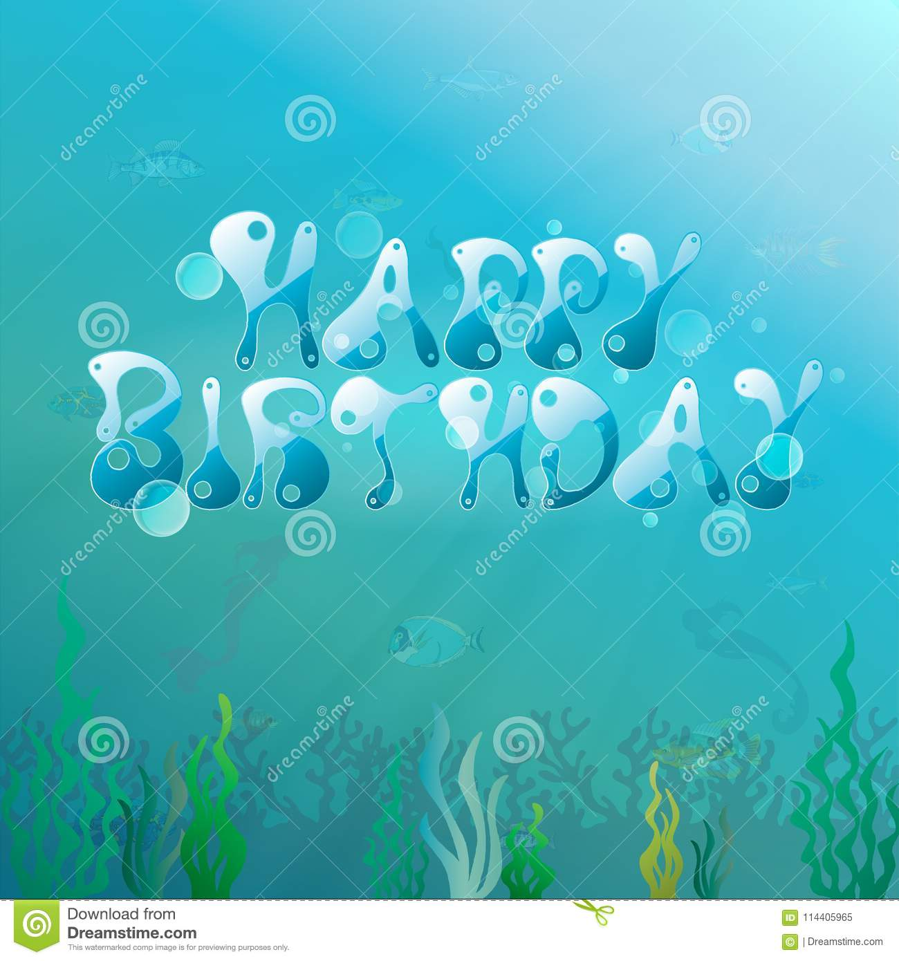 Under the sea party happy birthday underwater theme vector under the sea party happy birthday underwater theme vector illustration invitation cards background toneelgroepblik Image collections