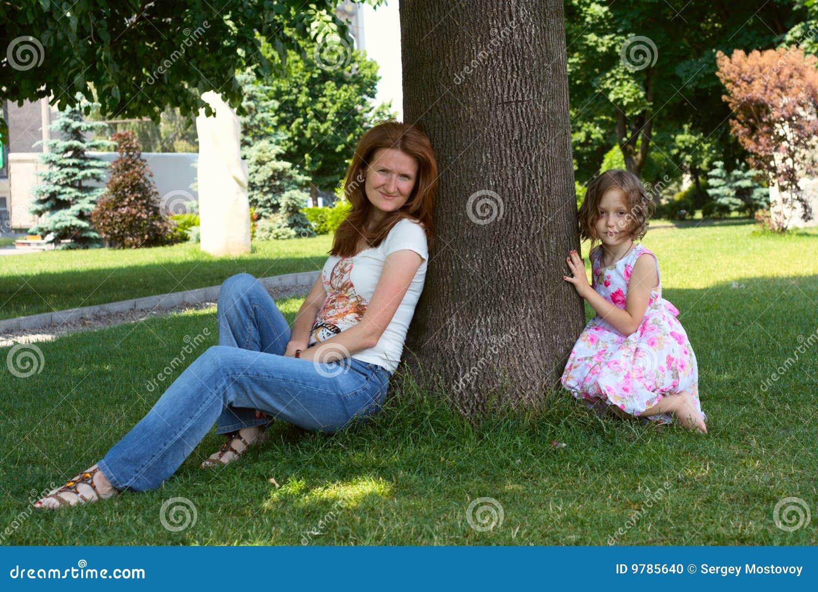 Under the shade of tree