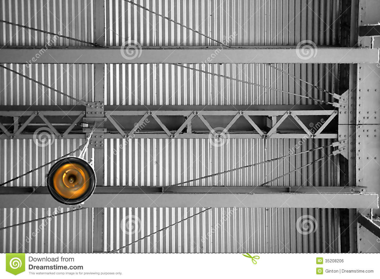 Under The Tin Roof Stock Photo Image Of Corrugated Steel