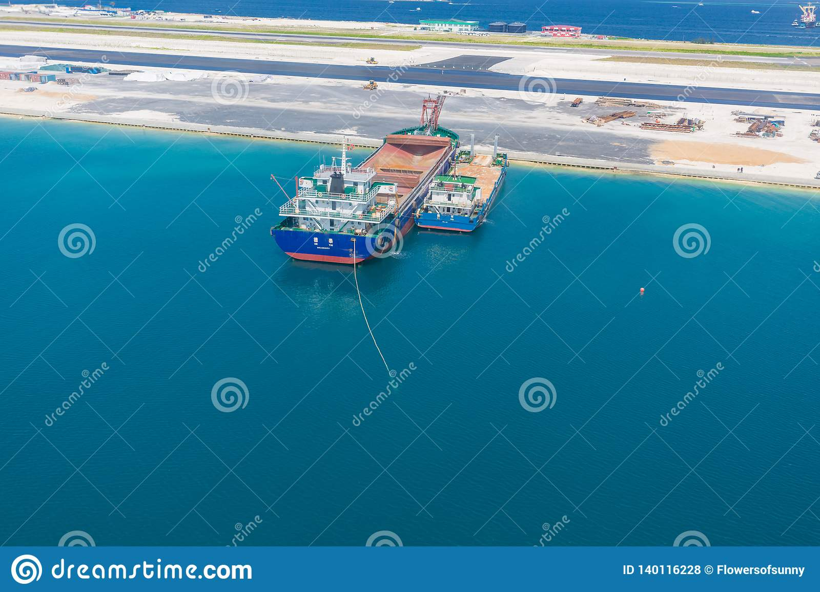 Maldives Island Capital City Male Under Construction And