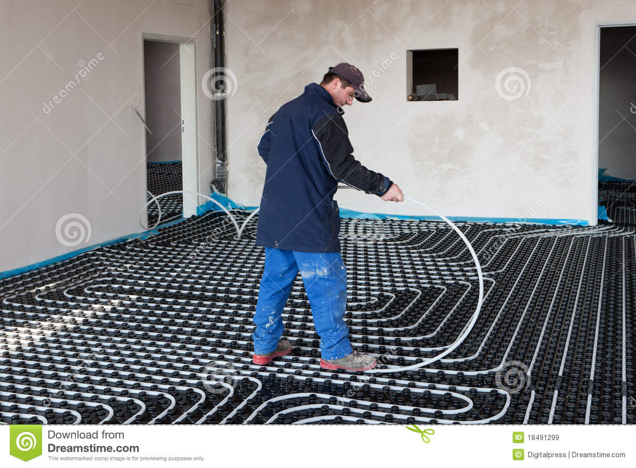 Underfloor Heating And Cooling Stock Image Image Of