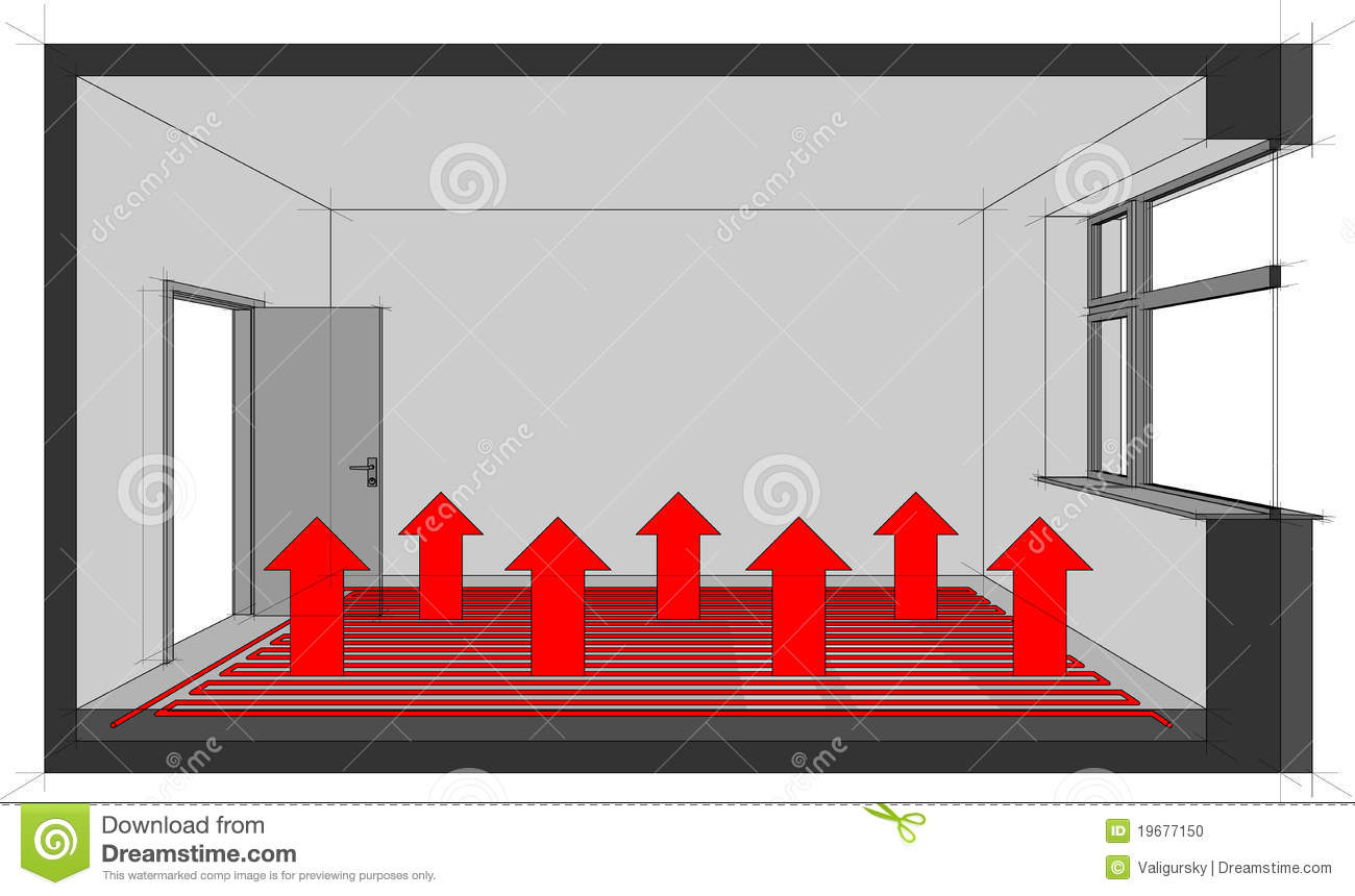 Underfloor Heating Diagram Stock Vector  Image Of Warm