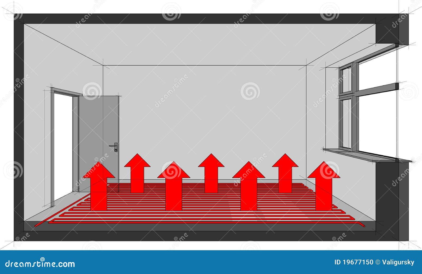 Underfloor Heating Diagram Stock Photo