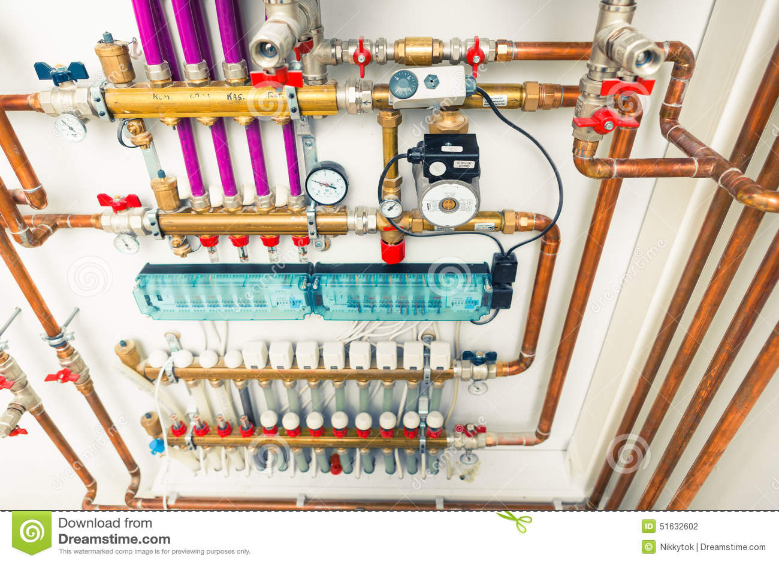 Underfloor Heating System Stock Photo Image 51632602