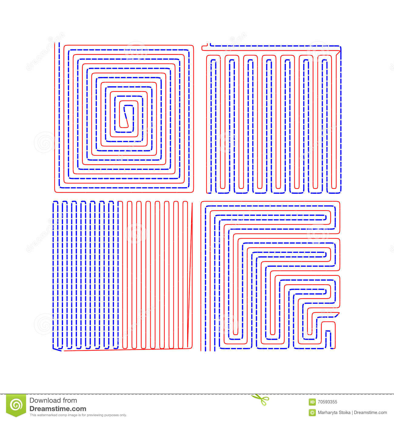 Underfloor    Vector Drawing The Floor    Heating    Stock Vector