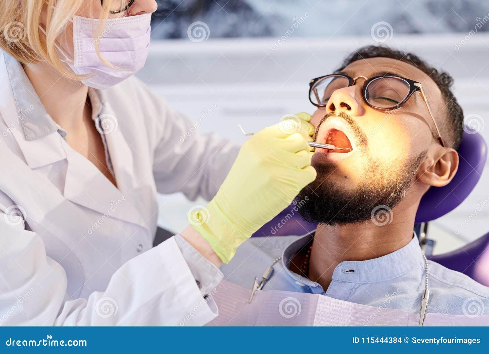 Undergoing Dental Filling