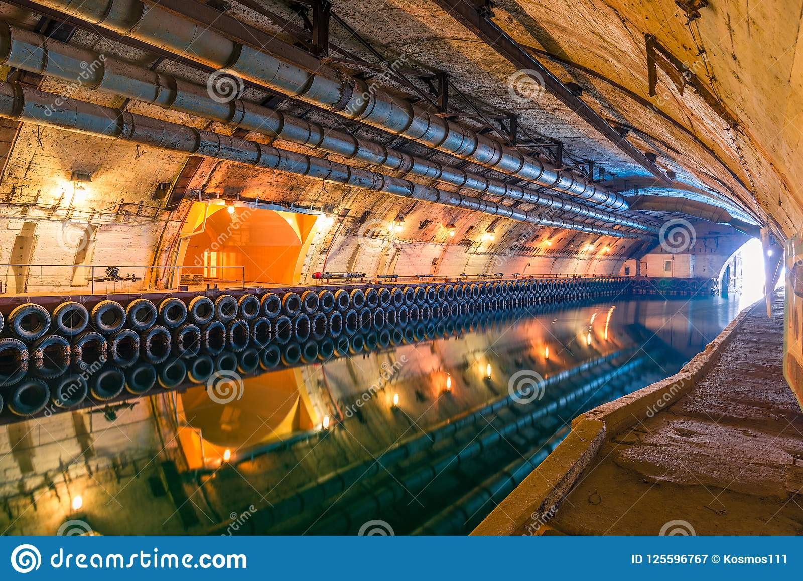 Underground channel for the repair of submarines during the Cold