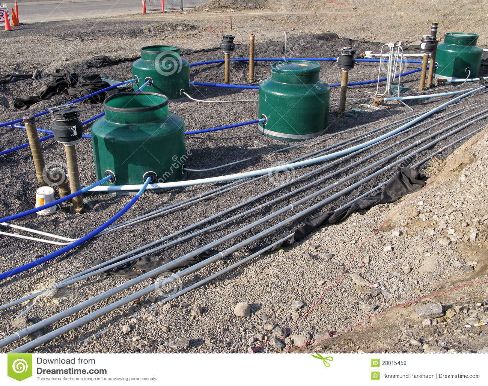 Underground Fuel Storage Tanks Stock Image Image 28015459