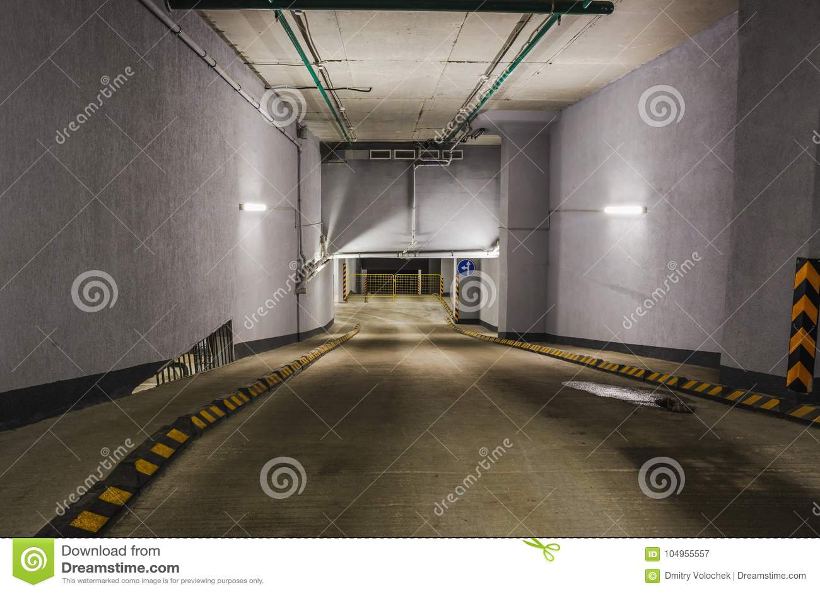 Concrete Underground Garage : Underground garage or modern car parking stock image