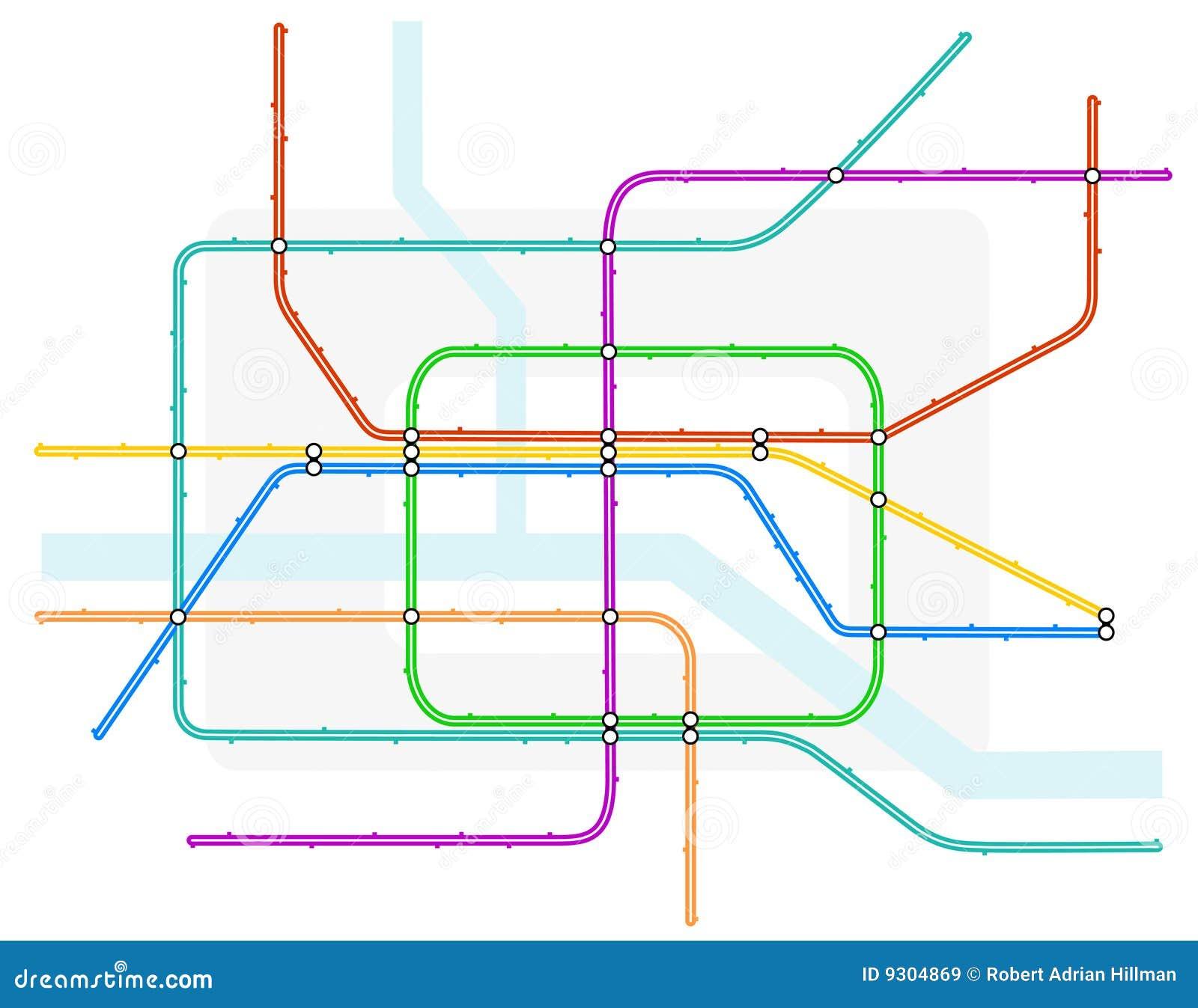 Underground Vector Underground map stock ...