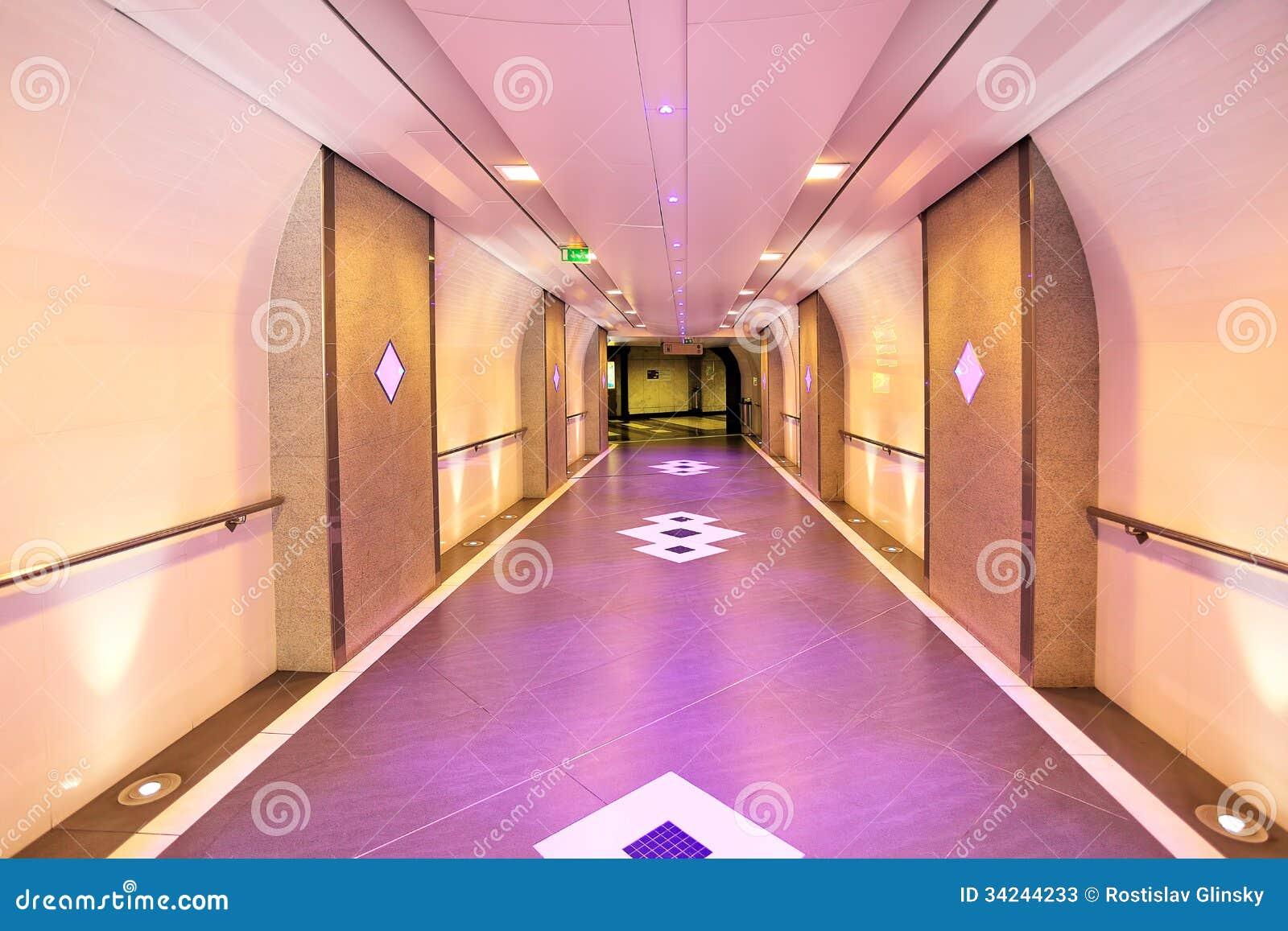 Underground Passage In Monte Carlo, Monaco. Stock Image - Image ...