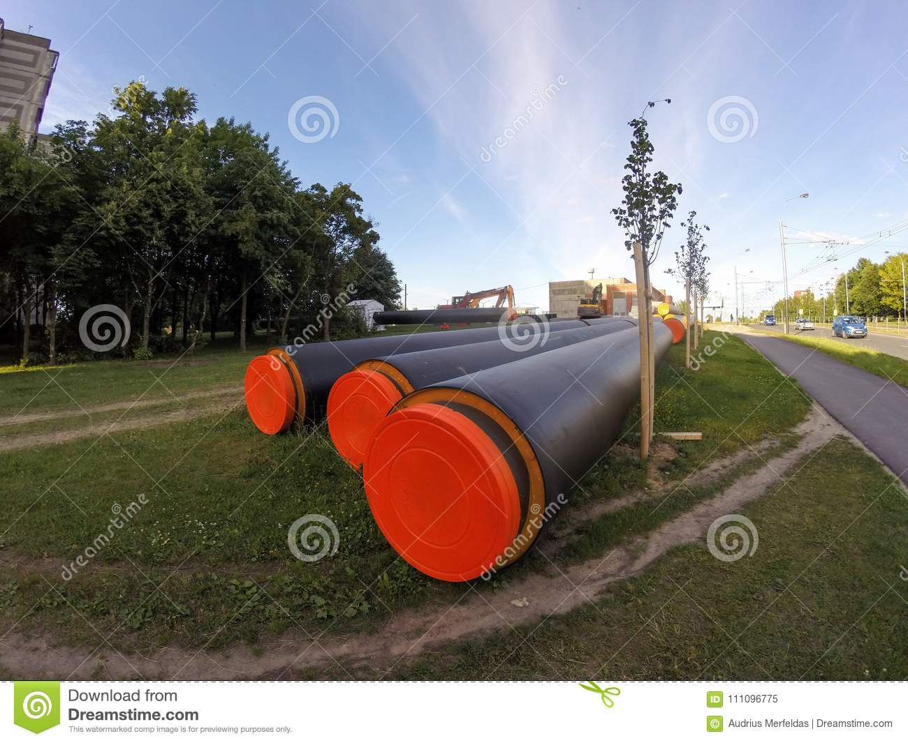Reconstruction Of Central Heating System Pipes In Kaunas, Lithua ...
