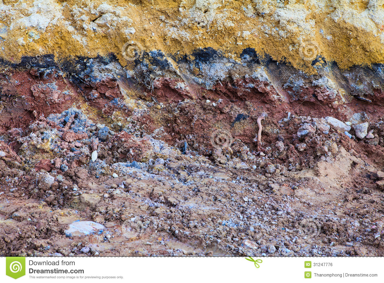 Underground soil layers royalty free stock image image for Soil information in english