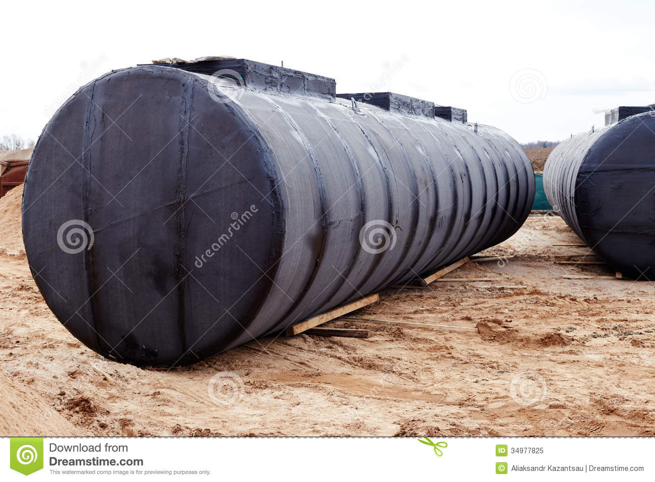 Underground Storage Tank At A Construction Site Royalty
