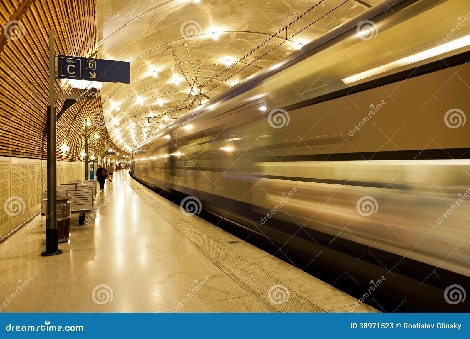 Underground Train Station In Monaco. Editorial Stock Photo - Image ...