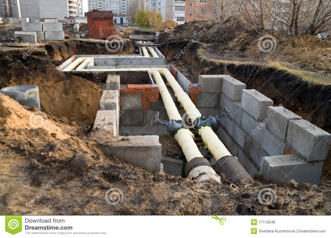 Underground Utilities Royalty Free Stock Photos Image