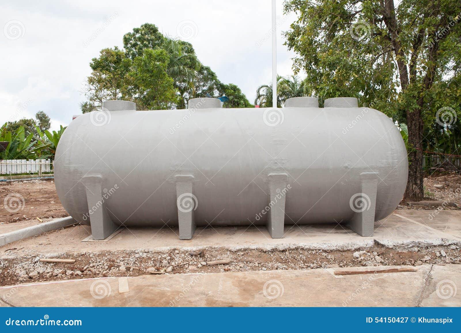Underground Water Reserve Tank Preparing In Construction Site Pl