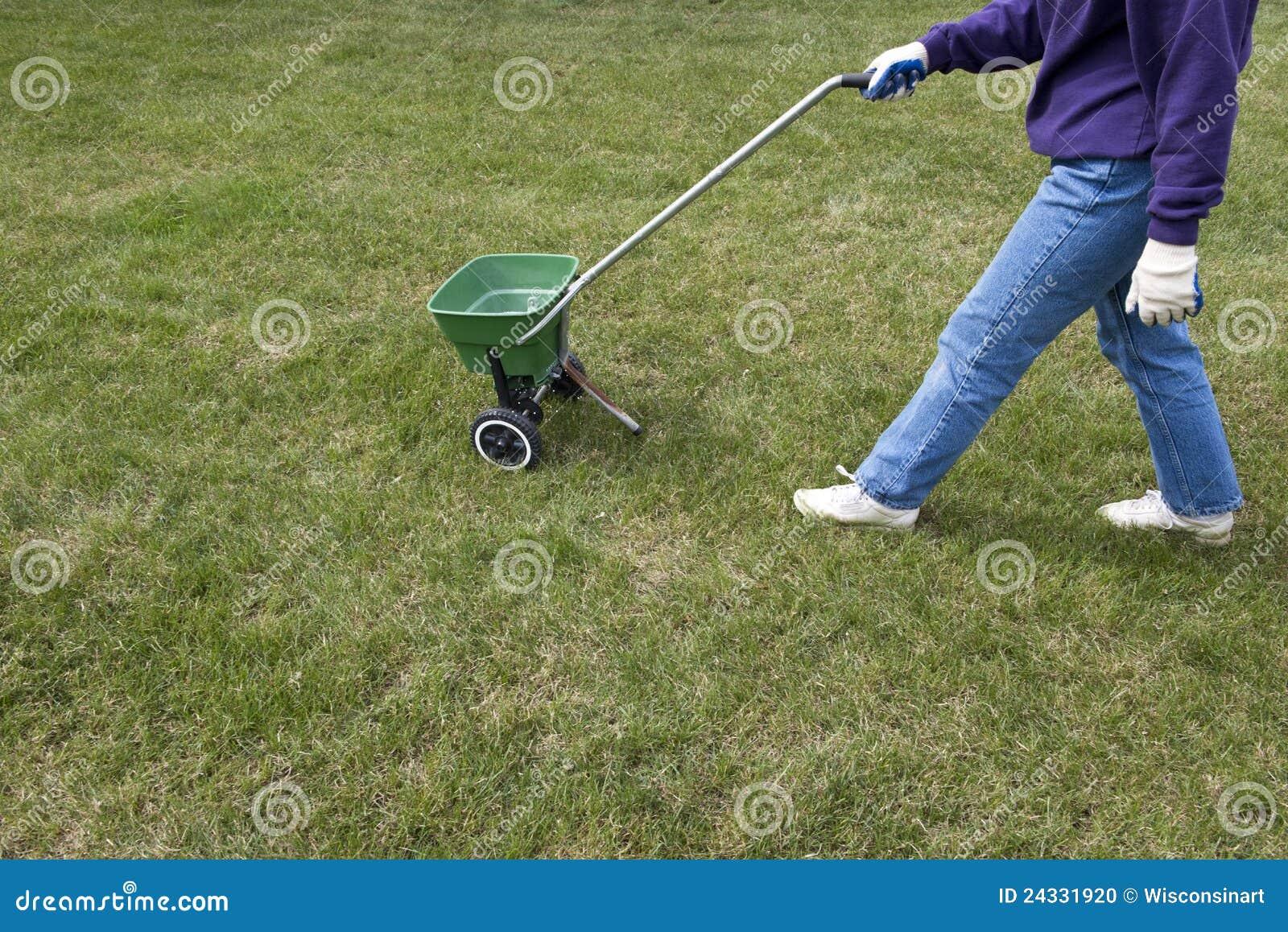 Underhåll för lawn för utgångspunkt för omsorgsgödningsmedelgräs