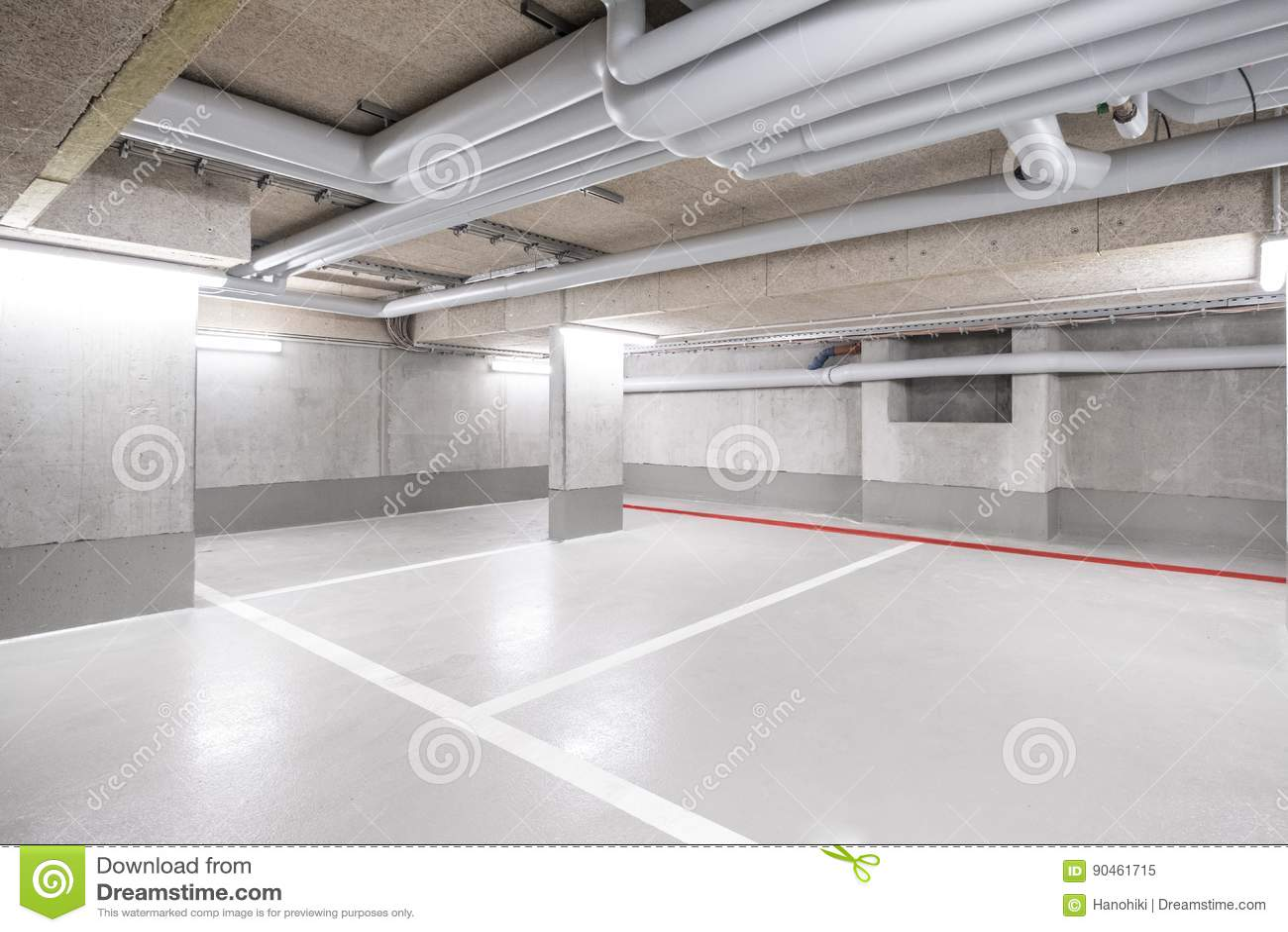 Underjordiskt bilparkeringsdäck