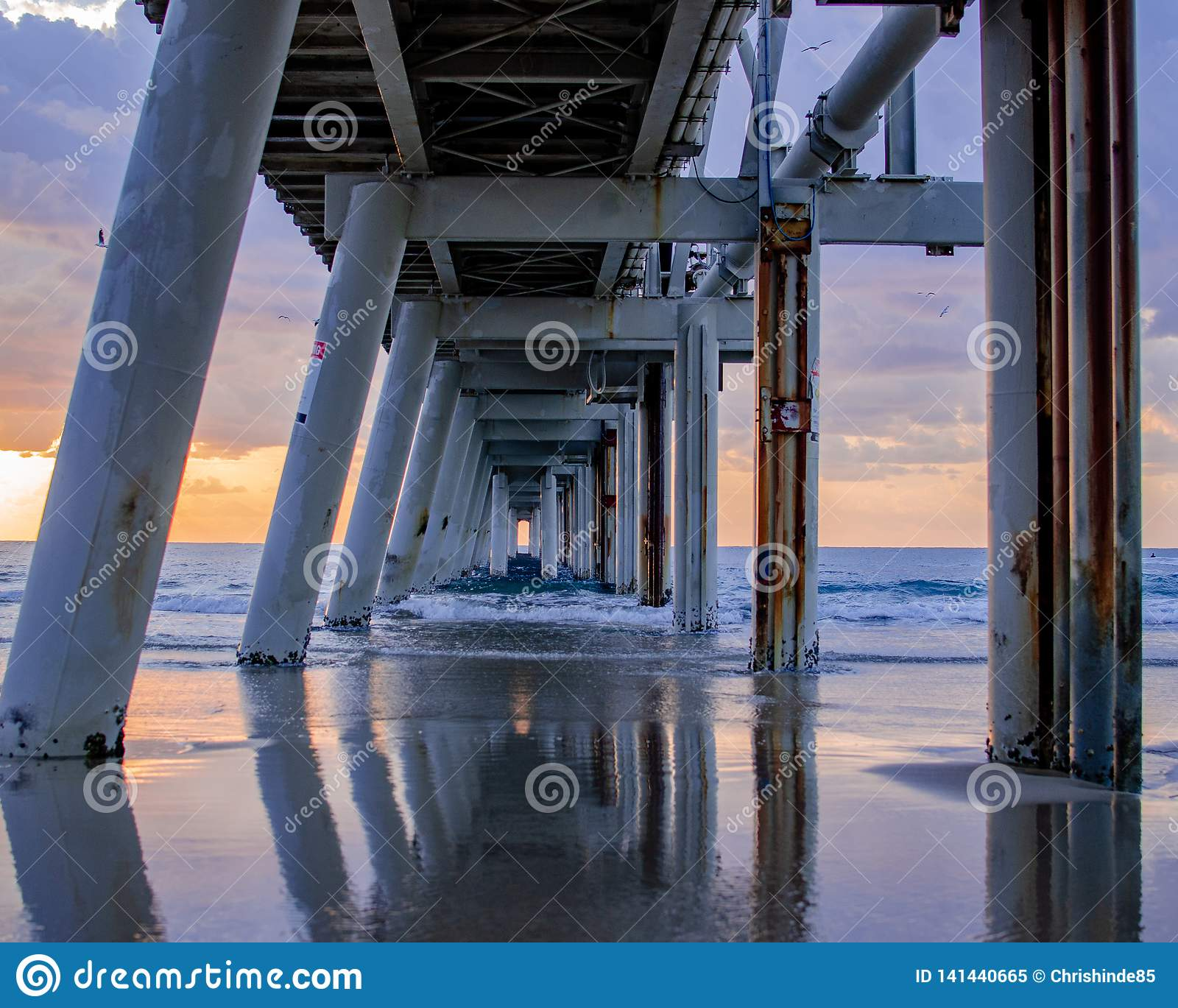Underneath a sand jetty