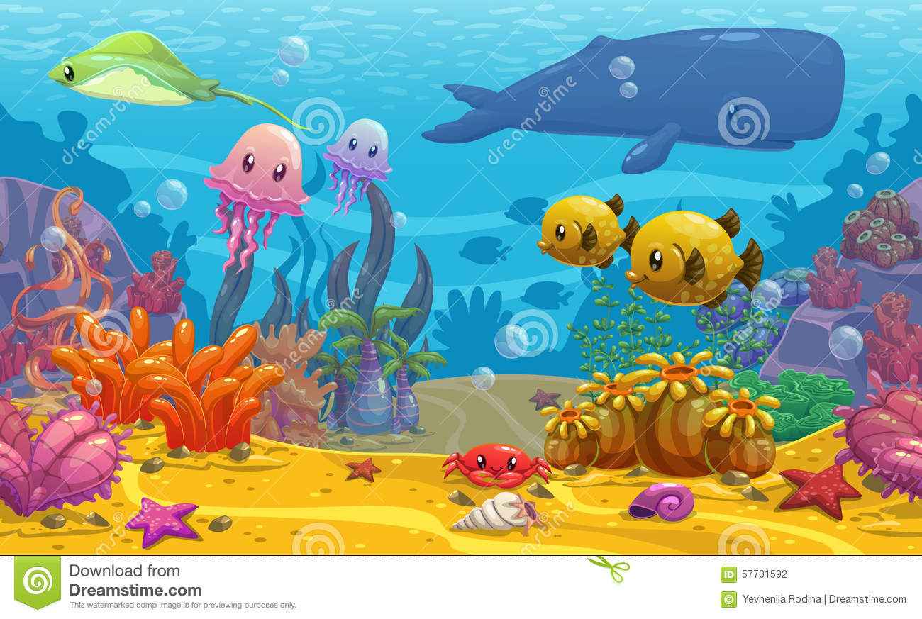 Undersea Landscape Stock Illustration Image Of Aqua