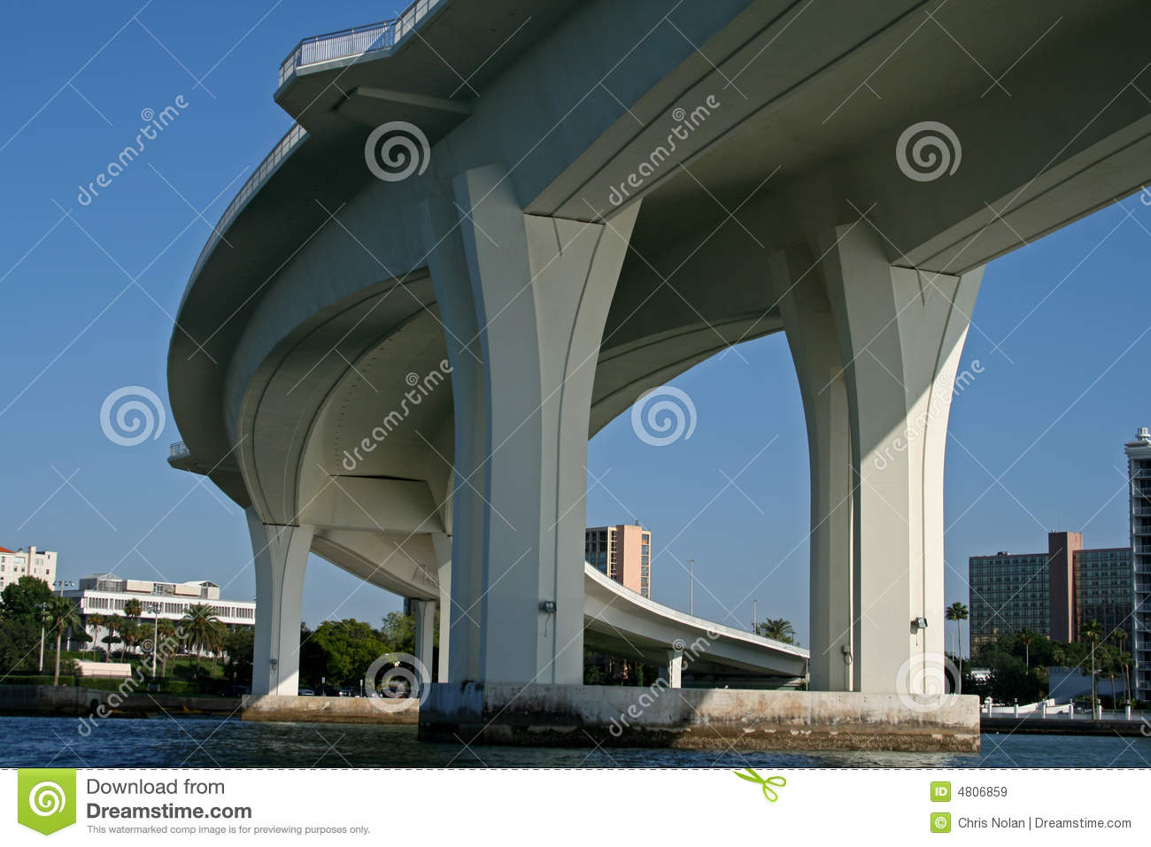 Underside Of Curved Concrete Bridge Support Royalty Free Stock Images Image 4806859