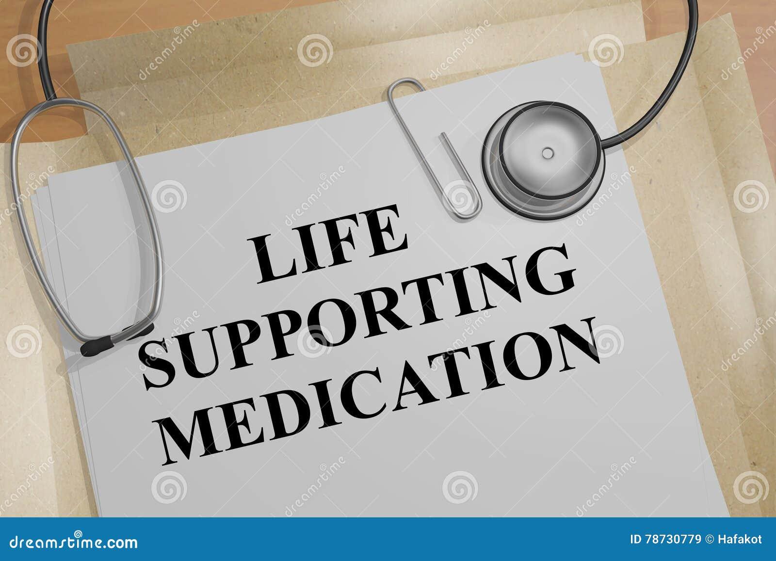 Understödjande läkarbehandlingbegrepp för liv