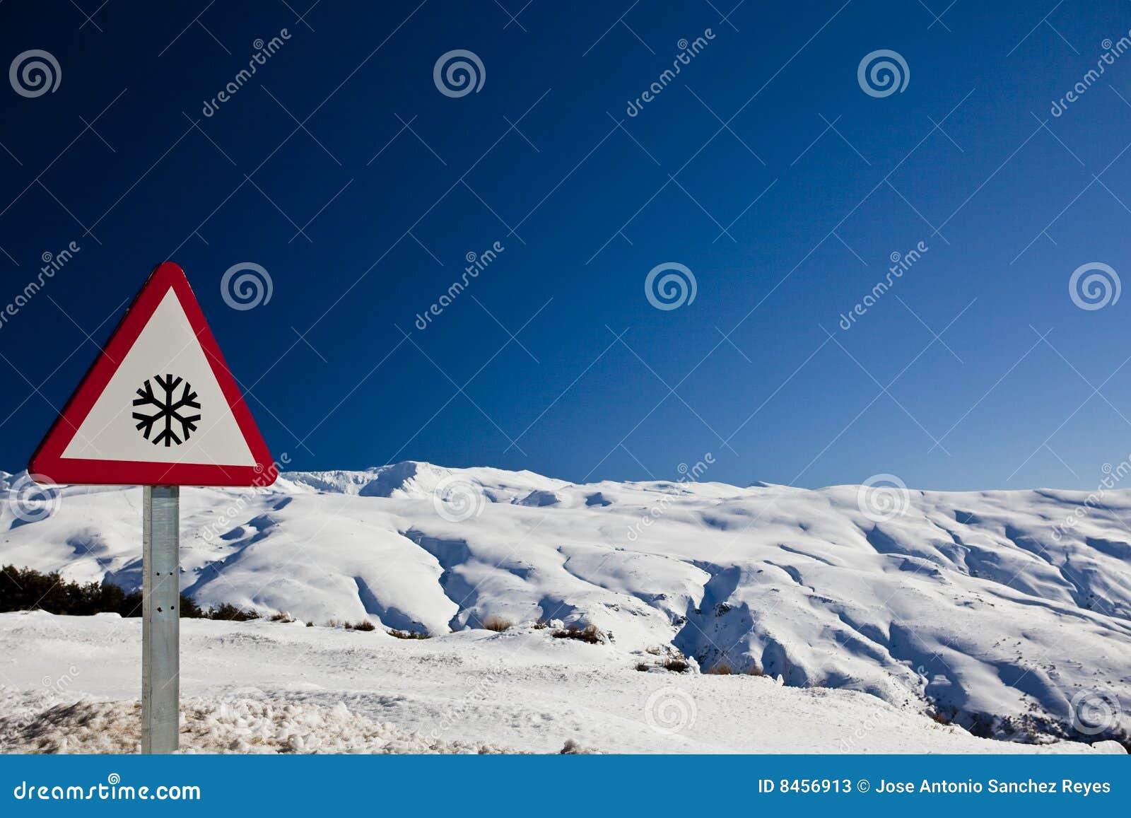 Underteckna snowvarning