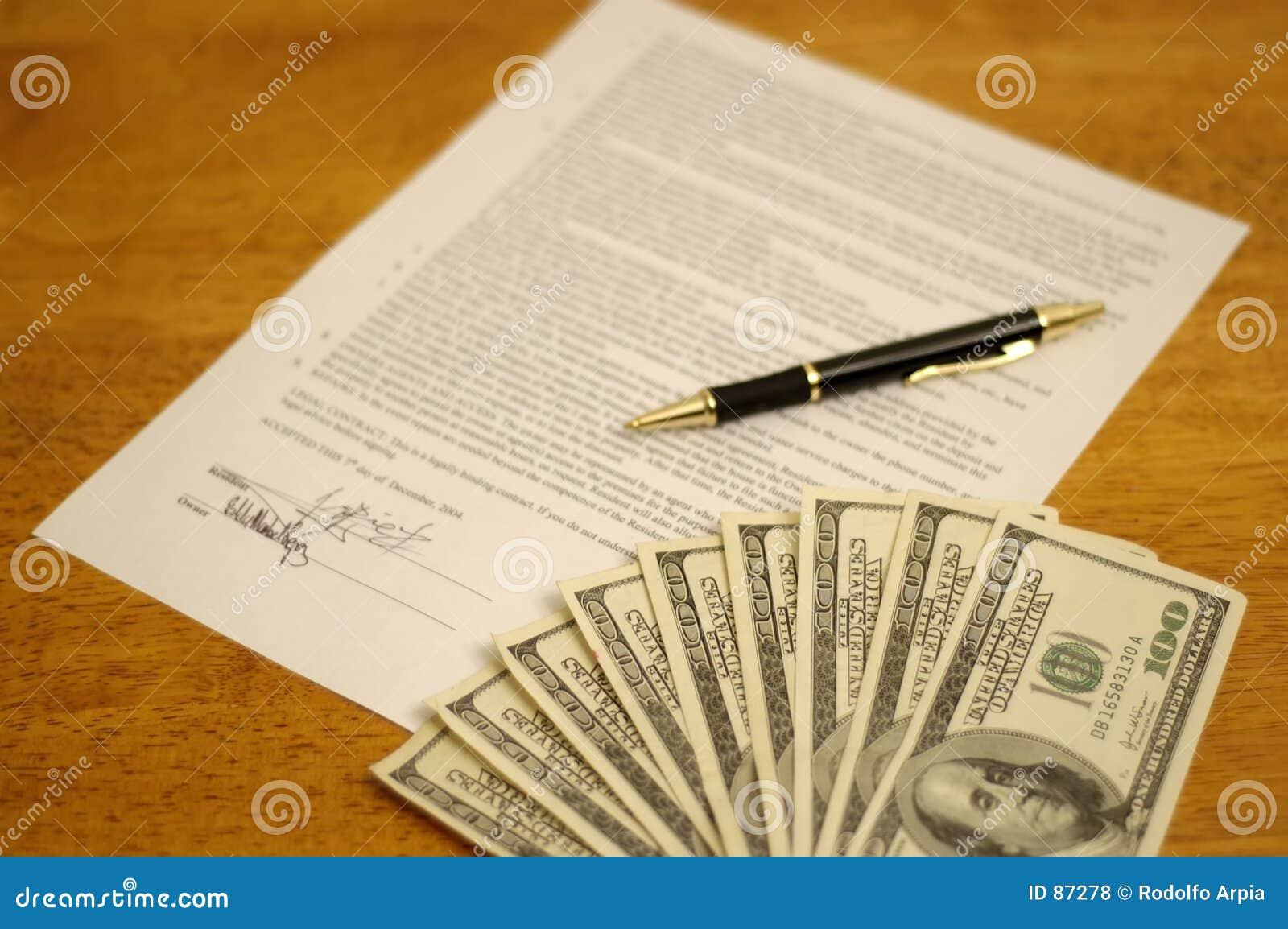 Undertecknat avtal