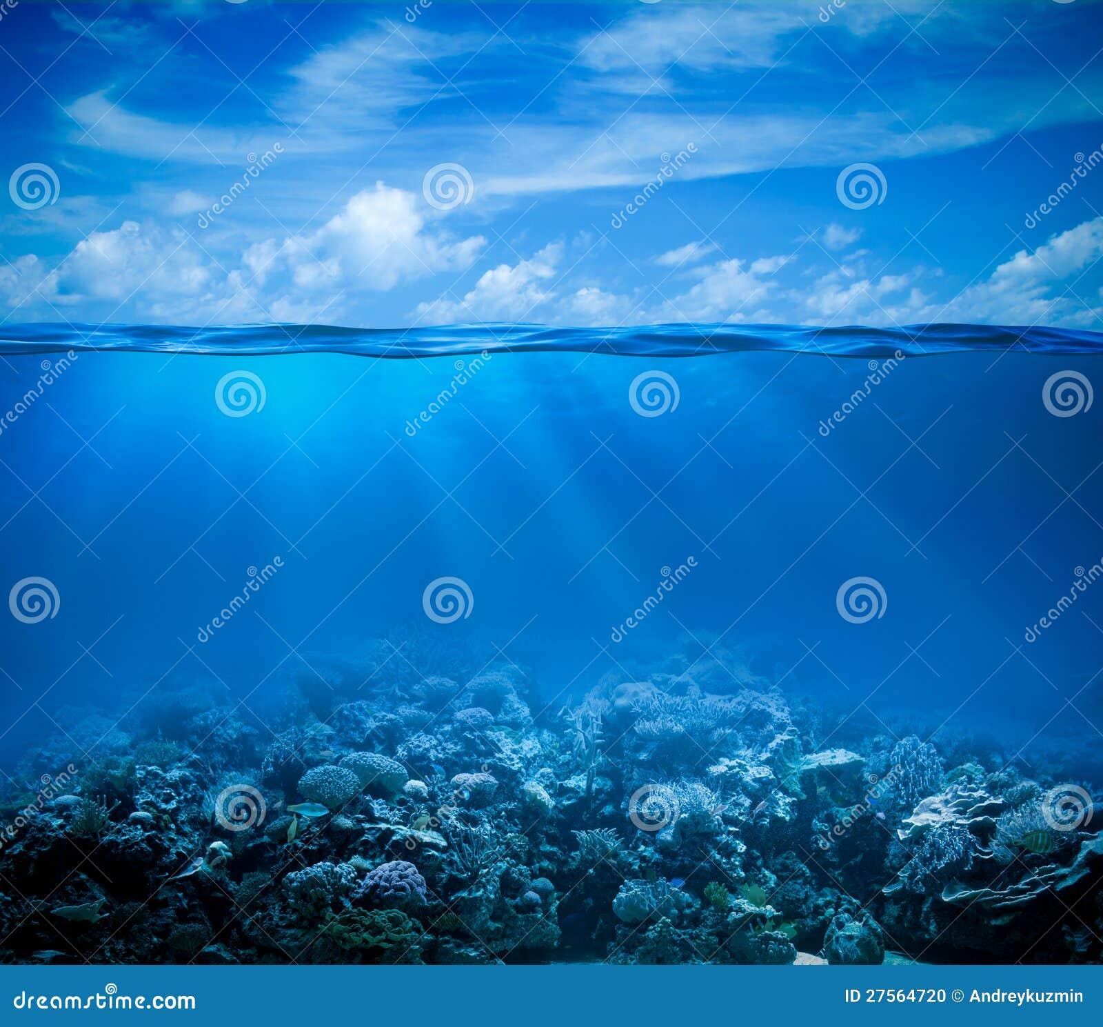Undervattens- med horisont- och vattenyttersida