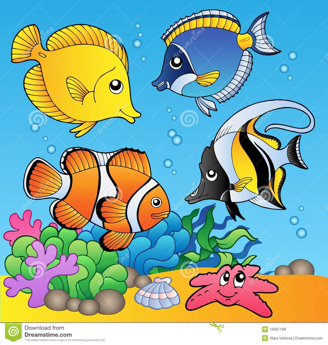 Underwater Animals And Fishes 2 Royalty Free Stock Photos - Image ...