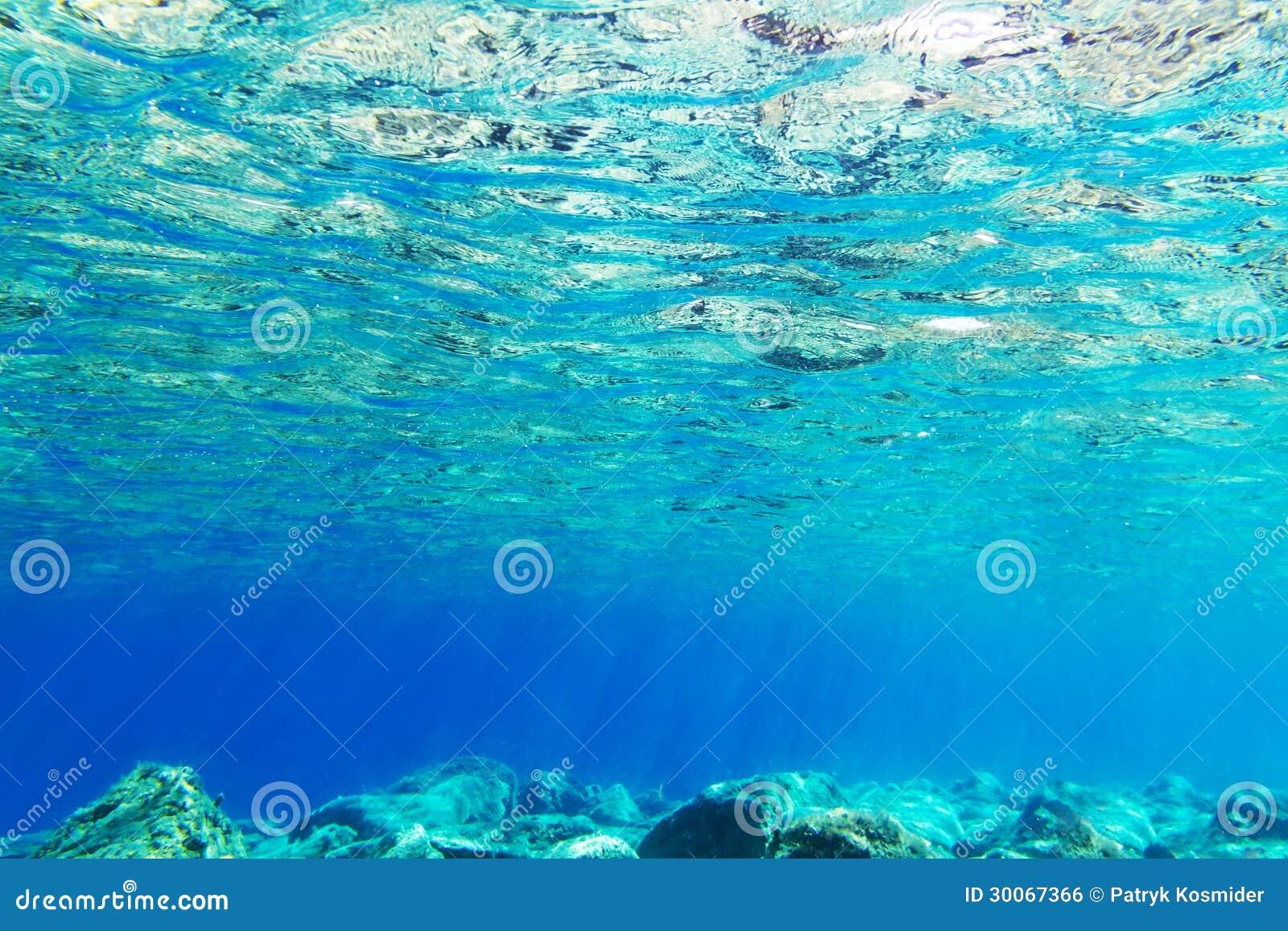 Underwater background of Aegean Sea