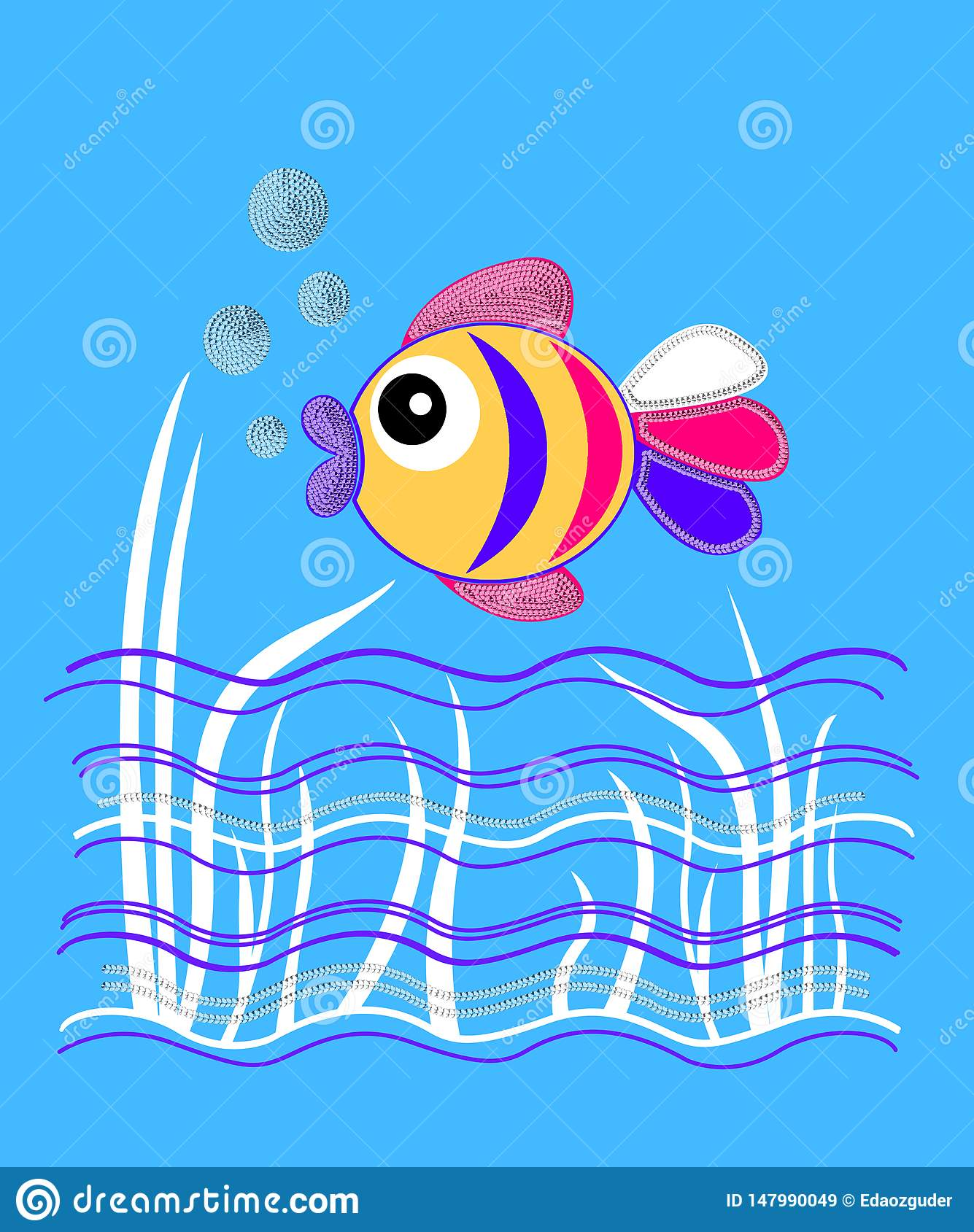 underwater fish, graphics for children products