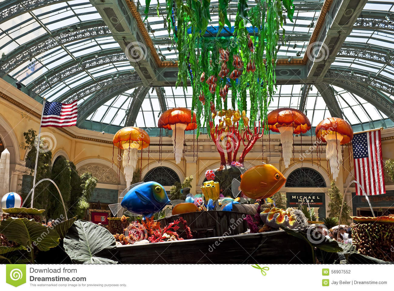 Underwater Garden Bellagio Las Vegas Editorial Photography Image Of Conservatory Palace