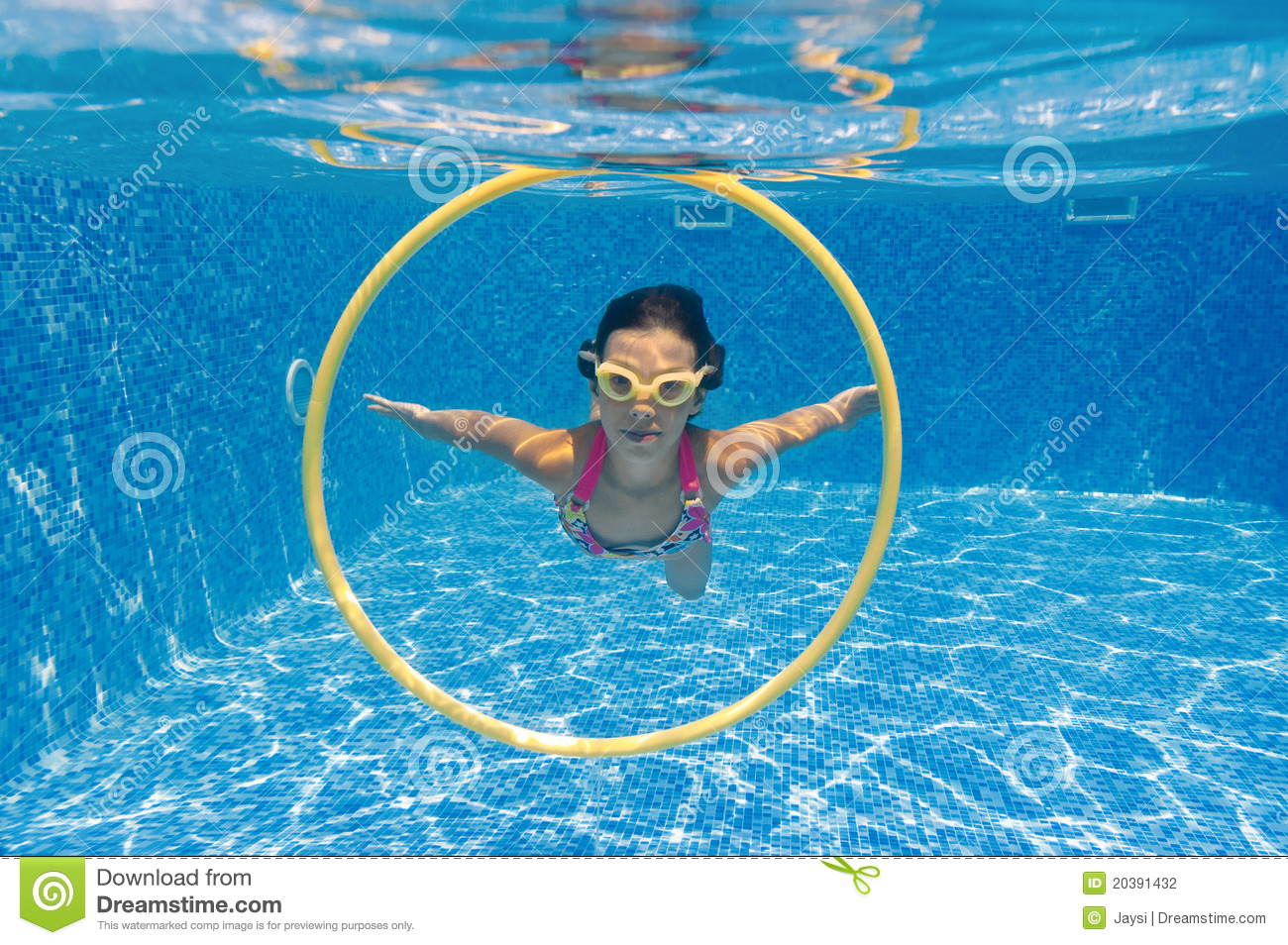 Stock photography underwater kid in swimming pool