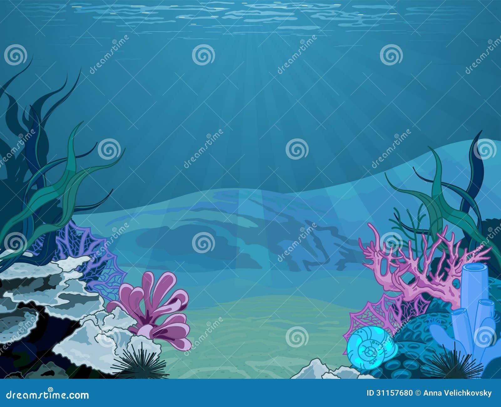 a vector illustration of marine underwater scene stock vector