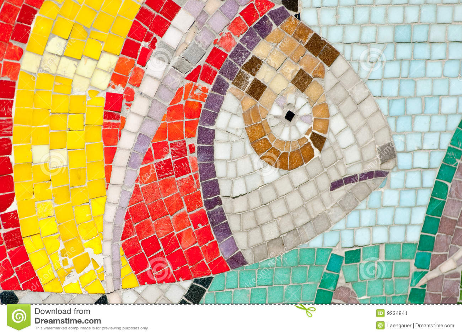 Underwater Mosaic Stock Image Image 9234841