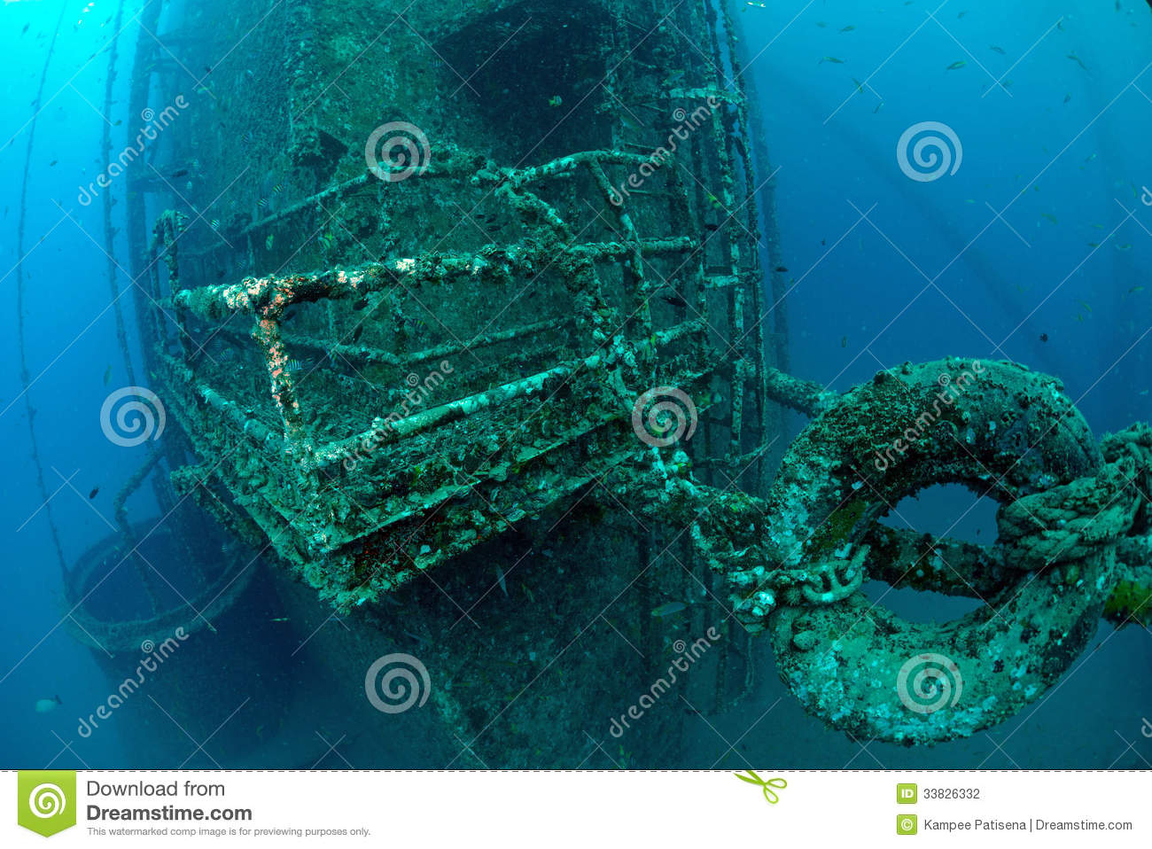 Underwater Oil Rig Stock Photography - Image: 33826332