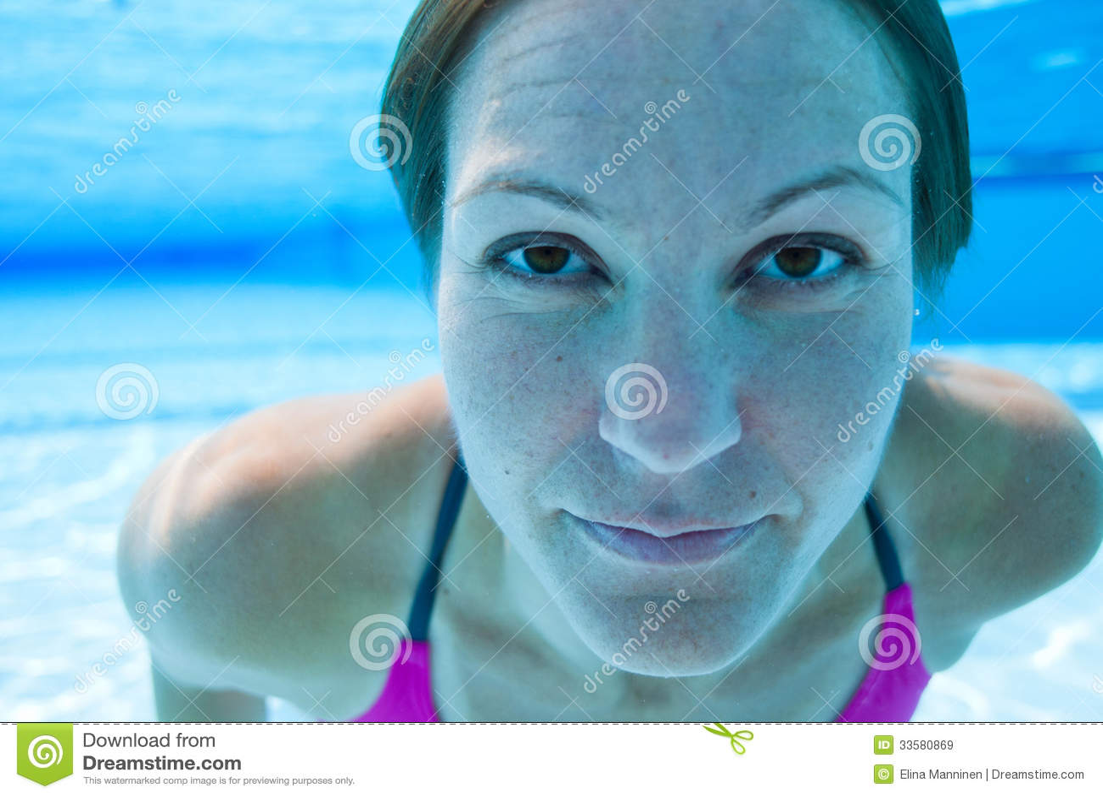 Underwater looking up pool underwater in pool