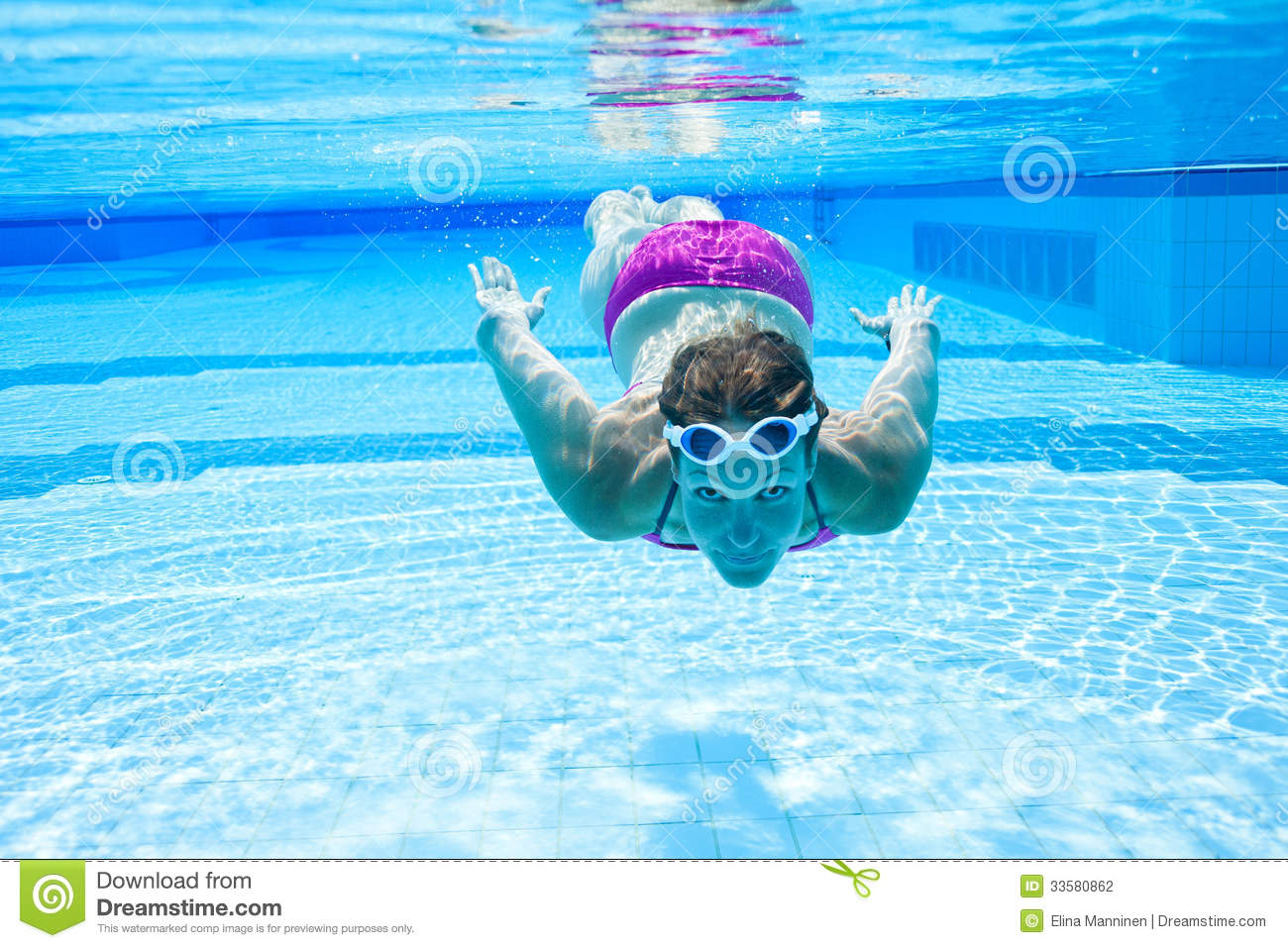 Underwater In Pool Stock Photography Image 33580862