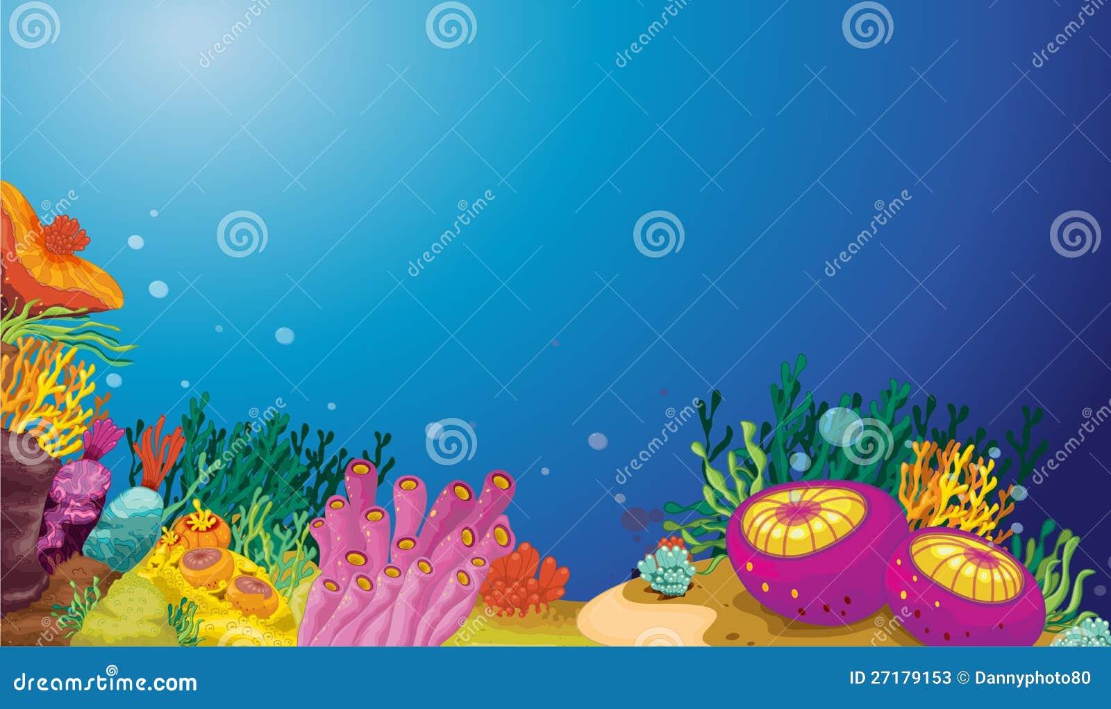 Underwater scene stock illustration. Illustration of ...