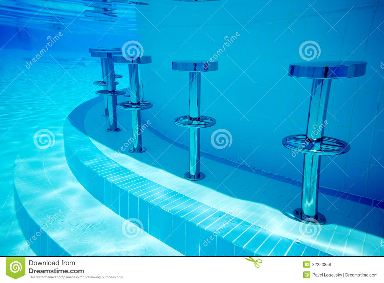 Underwater Seats In Pool Stock Photo Image Of Crystal